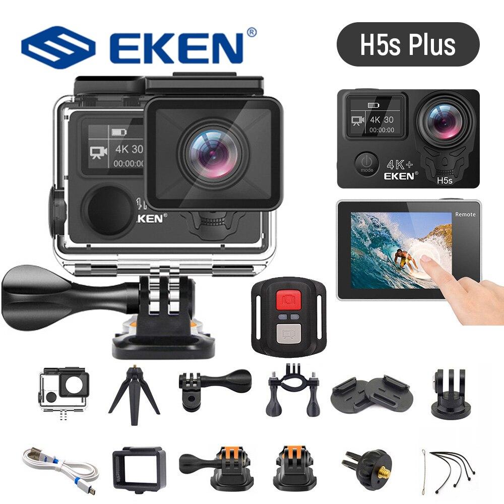 جديد EKEN H5S Plus 4K 30fps عمل كاميرا HD EIS مع Ambarella A12 رقاقة داخل 30 متر مقاوم للماء 2.0 'شاشة تعمل باللمس الرياضة كاميرات