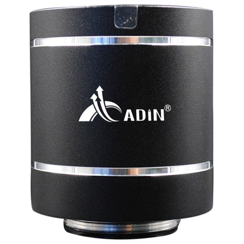 Adin-مكبر صوت لاسلكي محمول مع بلوتوث ، جهاز تحكم عن بعد ، راديو FM ، مكبر صوت للكمبيوتر ، عمود ب 20 واط