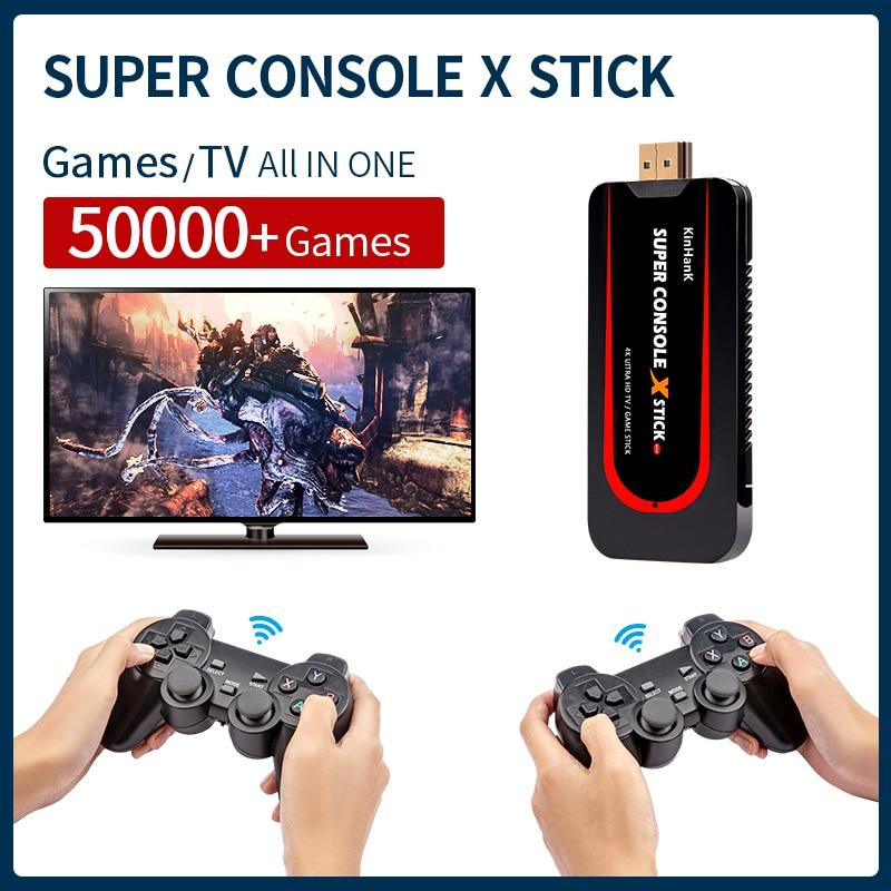 Super Console X Stick  Video Game Console Suitable For PSP/N64/PS1/DC ETC.  Built-in 50000+ Classic Games 64-Bit Retro Console