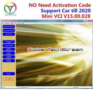 MINI VCI V14.20.019 for TOYOTA TIS Techstream V15.00.028 MINI-VCI Software Support 2020 Mini vci V15