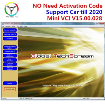 MINI VCI V14.20.019, pour TOYOTA TIS Techstream MINI-VCI, Support logiciel 2020 Mini vci V15