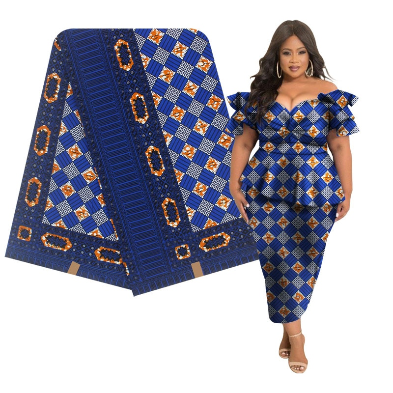 Alta calidad Original de cera real 100% de algodón tejido africano con cera tela de impresión de cera Africana 2019 última 6 yardas de tela de ankara