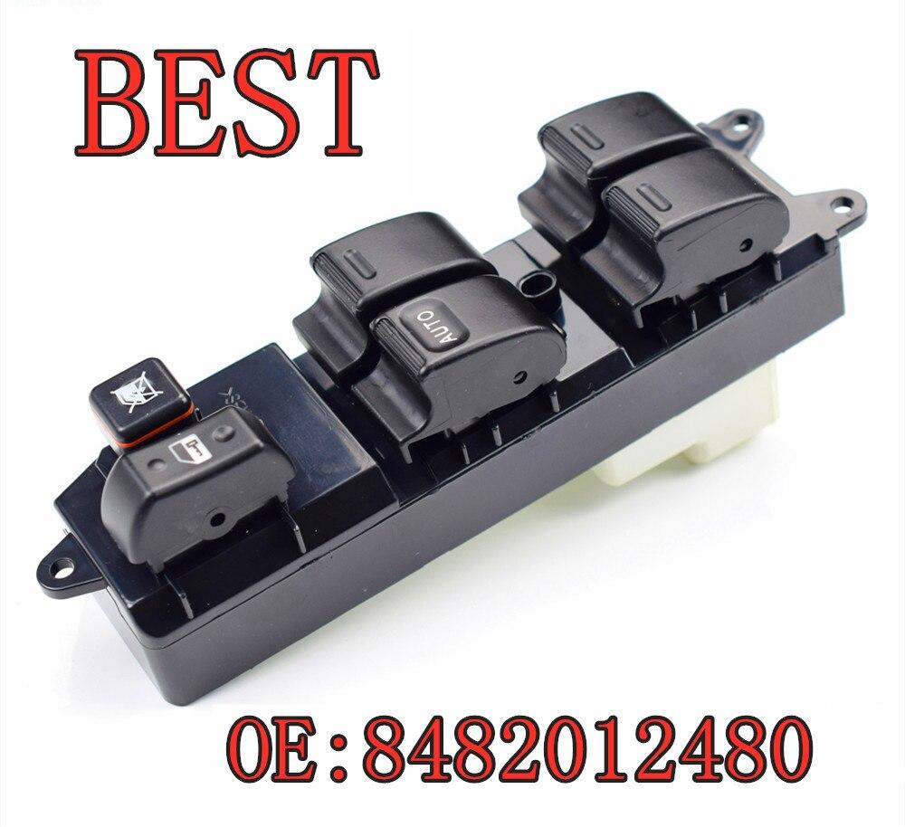 Электрическая мощность переключатель окна двери автомобиля аксессуары левая передняя 84820-12480 8482012480 для 02-09 Toyota RV4 Camry Corolla