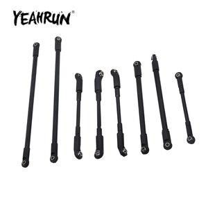 YEAHRUN 8Pcs Aluminum Metal Link Rod Linkage Set for RC4WD D110 1/10 RC Crawler Car Model Upgrade Accessories