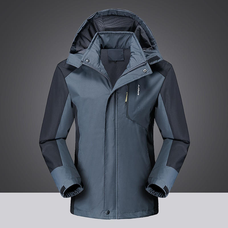 Chaqueta de senderismo para hombre para exterior e invierno, abrigos para hombre, cazadora para Trekking y escalada, impermeable, cálida, para pesca, nuevas chaquetas impermeables para senderismo