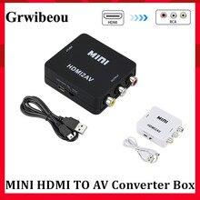 Adaptateur de détartreur HDMI vers AV boîtier de convertisseur vidéo HD HDMI vers RCA AV/CVSB L/R vidéo 1080P HDMI2AV prise en charge de ladaptateur NTSC PAL
