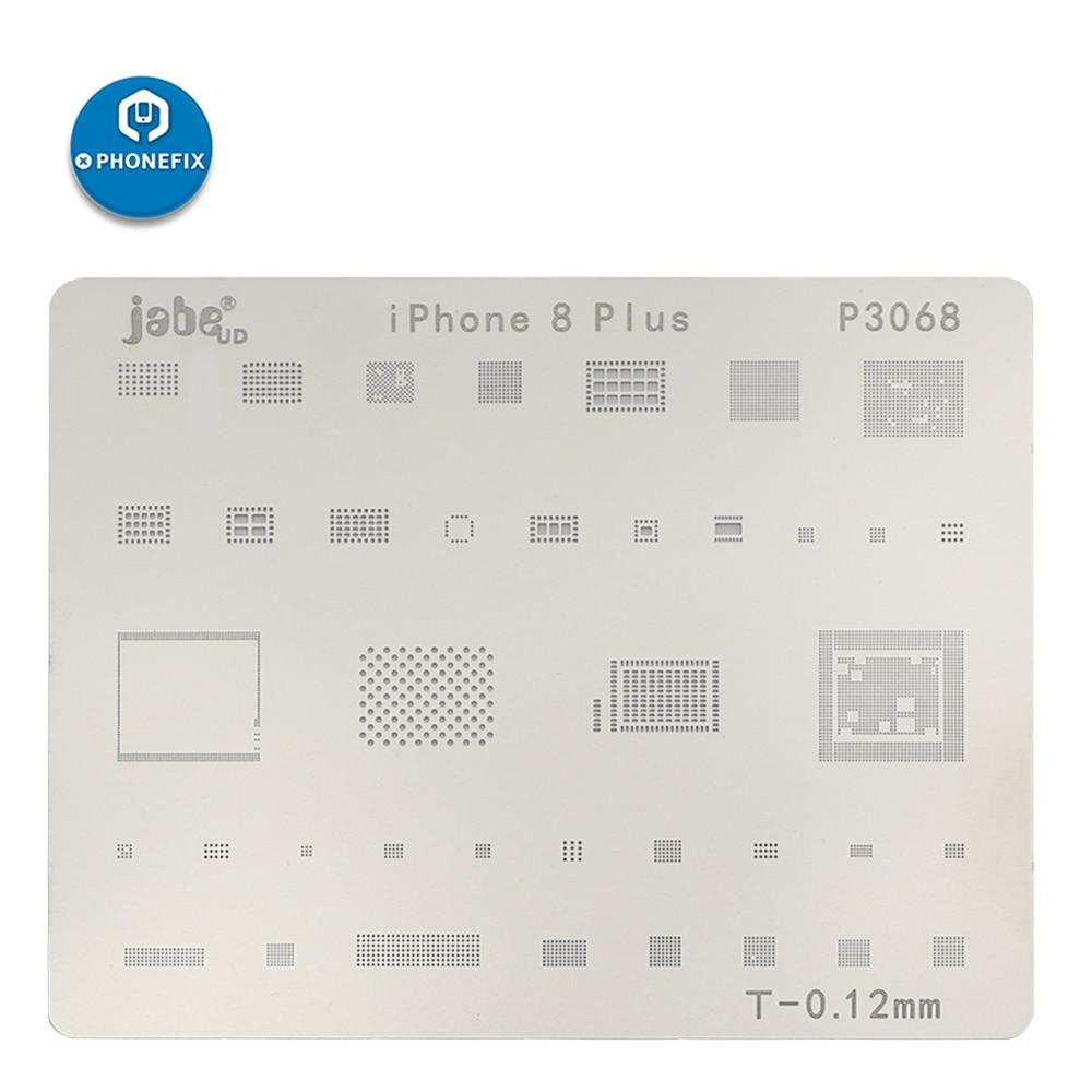 PHONEFIX 15Pcs Mobile Phone CPU NAND Flash BGA Reballing Stencils Kit for iPhone 5 5S SE 6 6P 6S 6SP 7 7P 8 8P X XS XSMAX XR