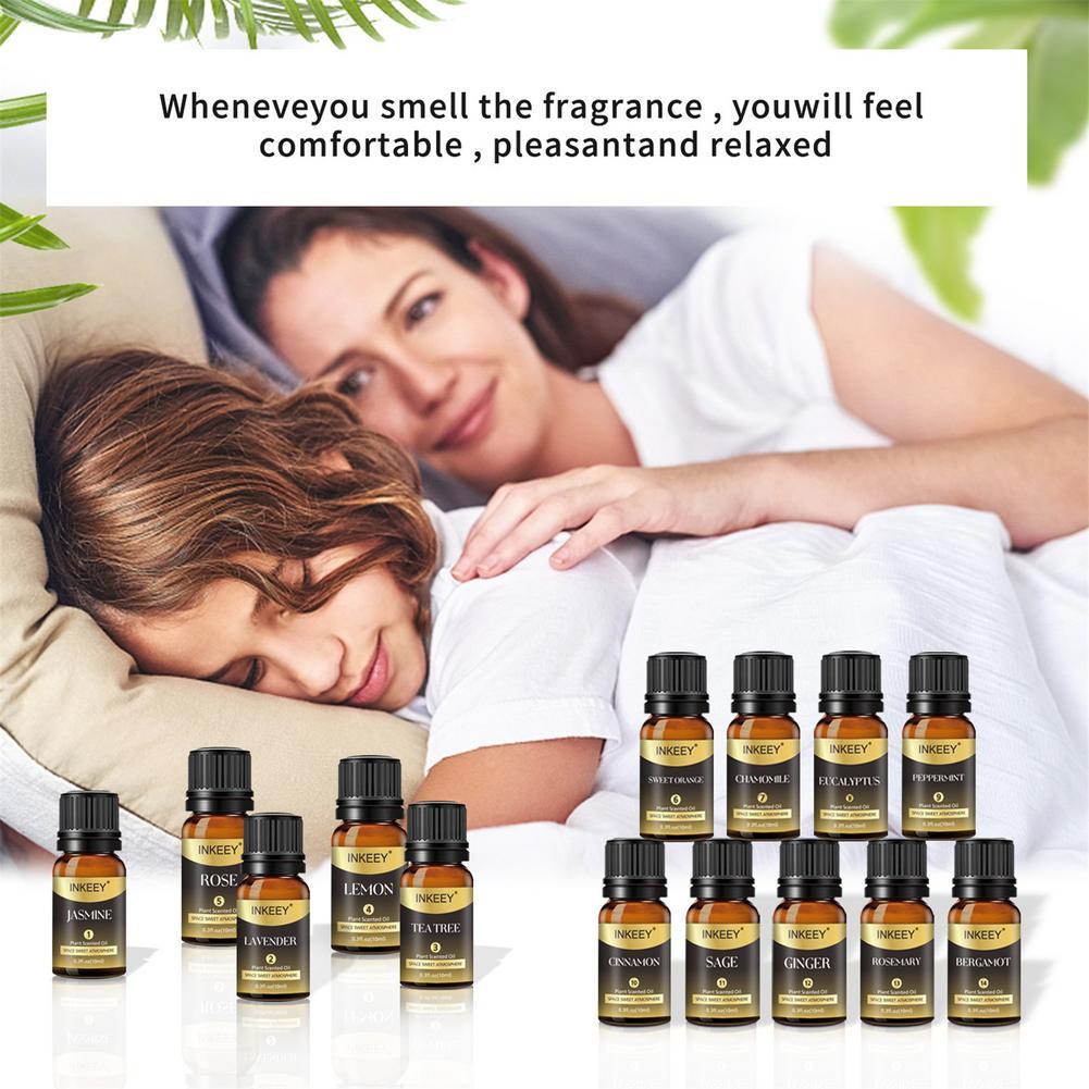 10ml 14 Fruit Flower Essential Oil Natural Plant Humidifier Air Freshening Diffuser Massage Fragranc