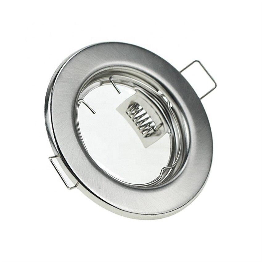 Free Shipping Superior quality recessed cob gimbal round stretchable spotlight fixture for GU10 MR16 GU5.3  etc