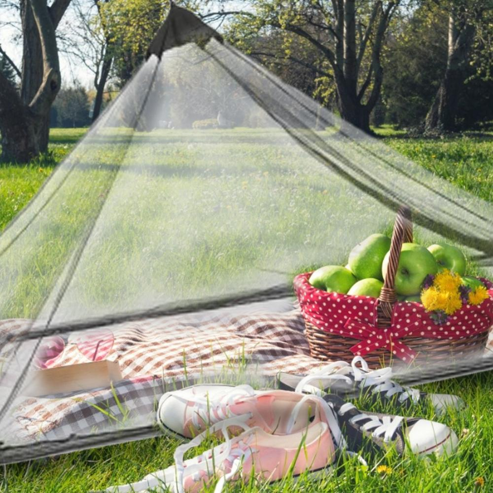 outdoor survival anti mosquito bug bee insect mesh hat head face protect net cover travel camping protector camping equipment Portable Outdoor Triangular Tent Outdoor Camping Anti-Mosquito Insect Repellent Mosquito Net Full Mesh Breathable Tent