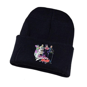 Anime Jojo's Bizarre Adventure Knitted Hat Cosplay Hat Unisex Print Adult Casual Cotton Hat Teenagers Winter Knitted Cap