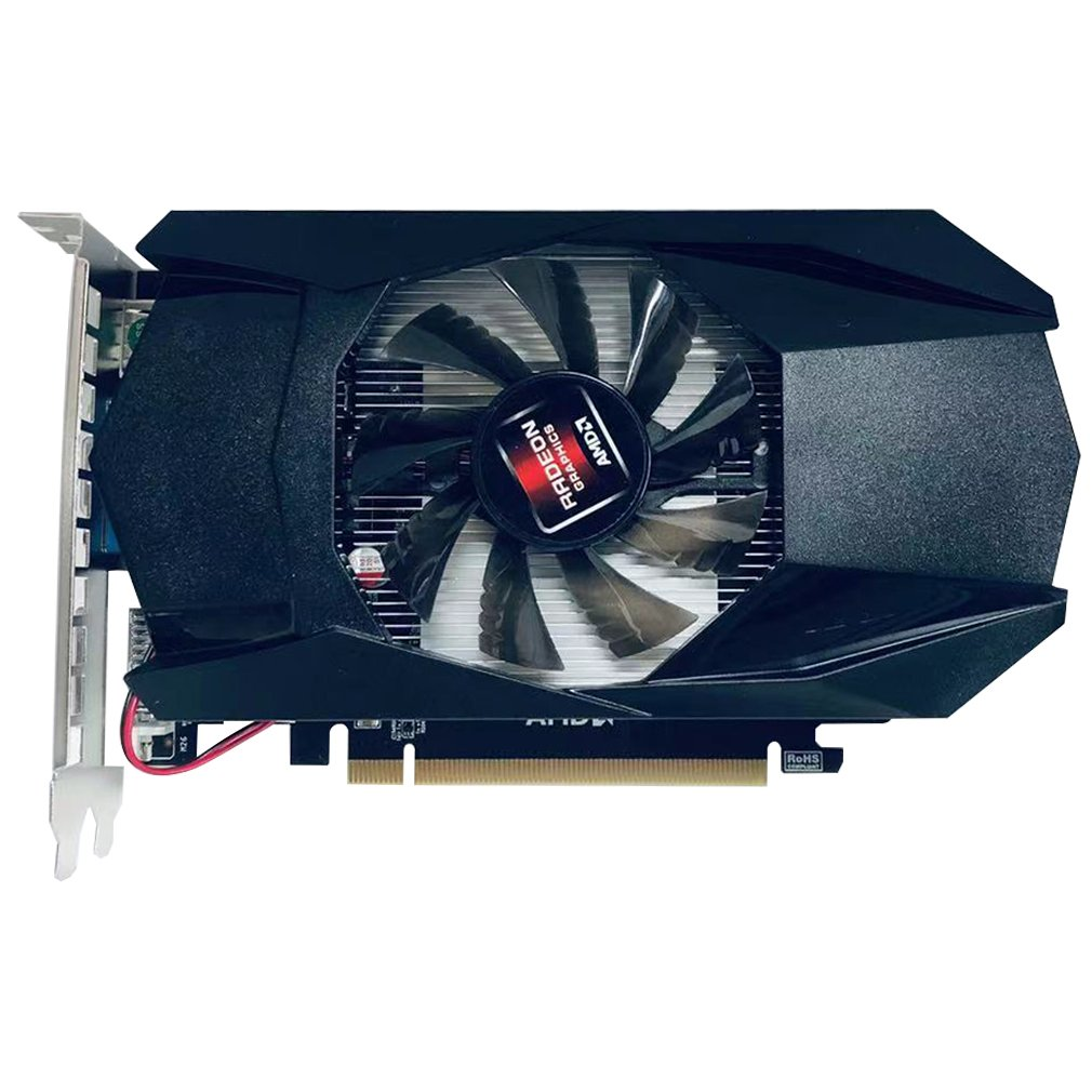 Independent Graphics Card For Radeon Gtx1050Ti 1G HD7670 4GB DDR5 128Bit PCI-E  Desktop PC Gaming Accessories With Cooler Fan