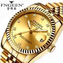 Men&Women Watches Couple Quartz Watch Ladies Waterproof Gold Watch Fashion Light Luxury Date Men Dia