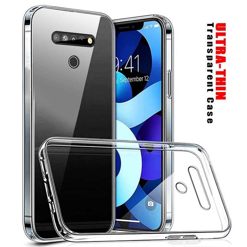 Ultra fino transparente caso macio para lg v50 v40 v30s v30 capa de telefone
