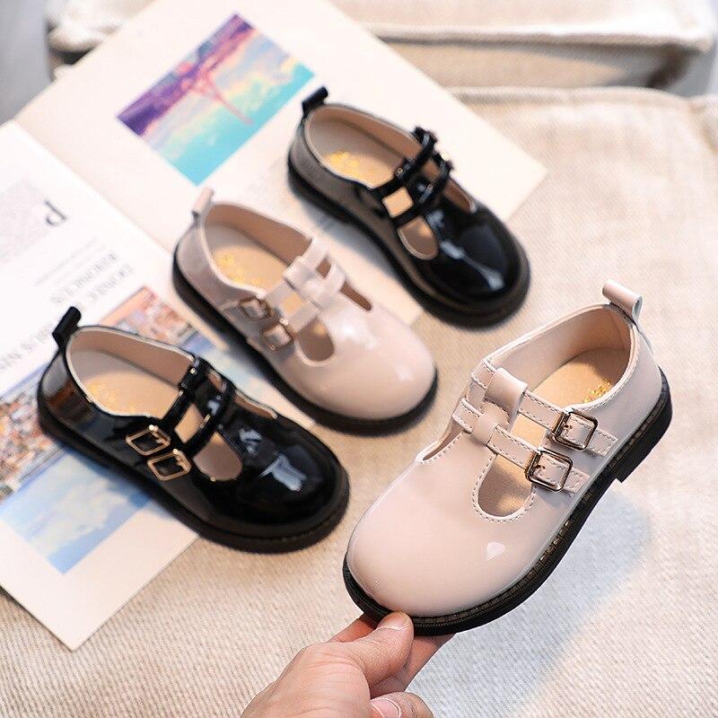 Детская однотонная кожаная школьная обувь унисекс в Корейском стиле, осенняя новая обувь для маленьких мальчиков, детская модная обувь Мэр...