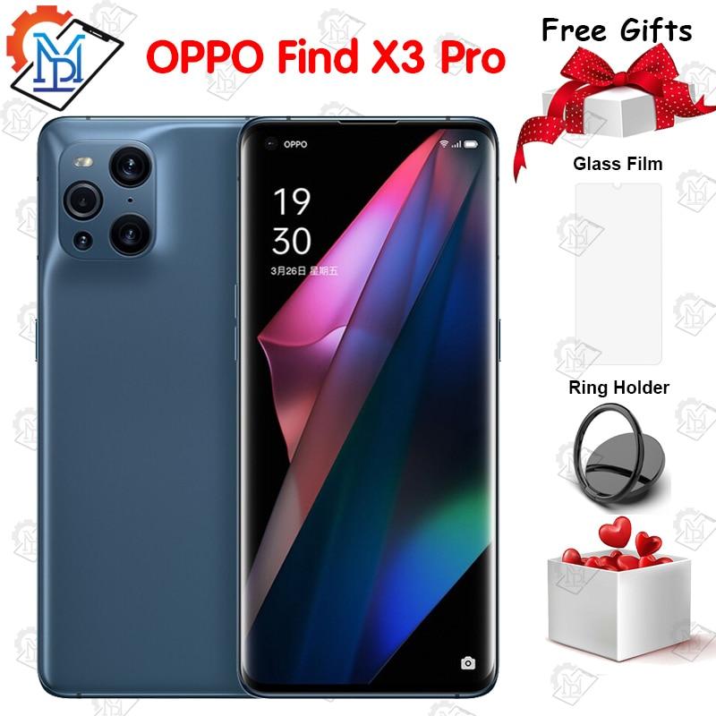 Оригинальный смартфон OPPO Find X3 Pro 5G мобильный телефон 6,7 дюймов 12G + 256G Snapdragon 888 Восьмиядерный Android 11 50MP Камера NFC IP68 смартфон