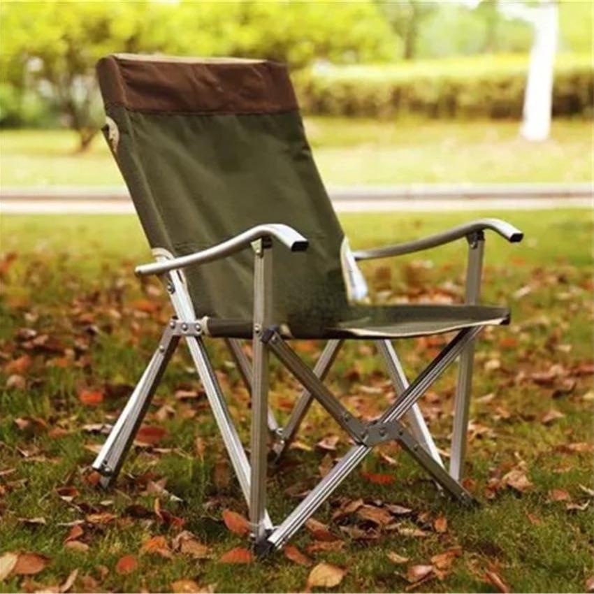 Silla de pesca plegable de asiento con respaldo de tubo de aluminio de Oxford 600D... plegable Picnic Camping silla de playa para