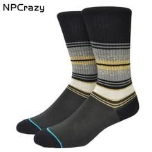Towel Bottom Casual Sports Socks Comfortable Boneless Seam Men's Crew Meias Skateboard Hip hop Socks Y242