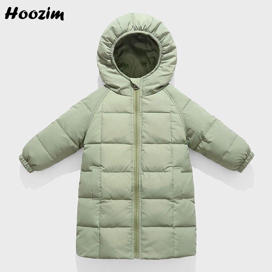 Winter Witte Eend Donsjack Voor Meisjes 18 M-8 Jaar Casual Jongens Baby Kleding Leuke Kids Bovenkleding Black Hooded Lange jas Jongens