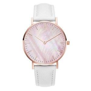 Women watches Luxury Brand Fashion Women's Leather Analog Quartz Wrist Watch Gold Ladies Watch for Women Dress Reloj Mujer Clock