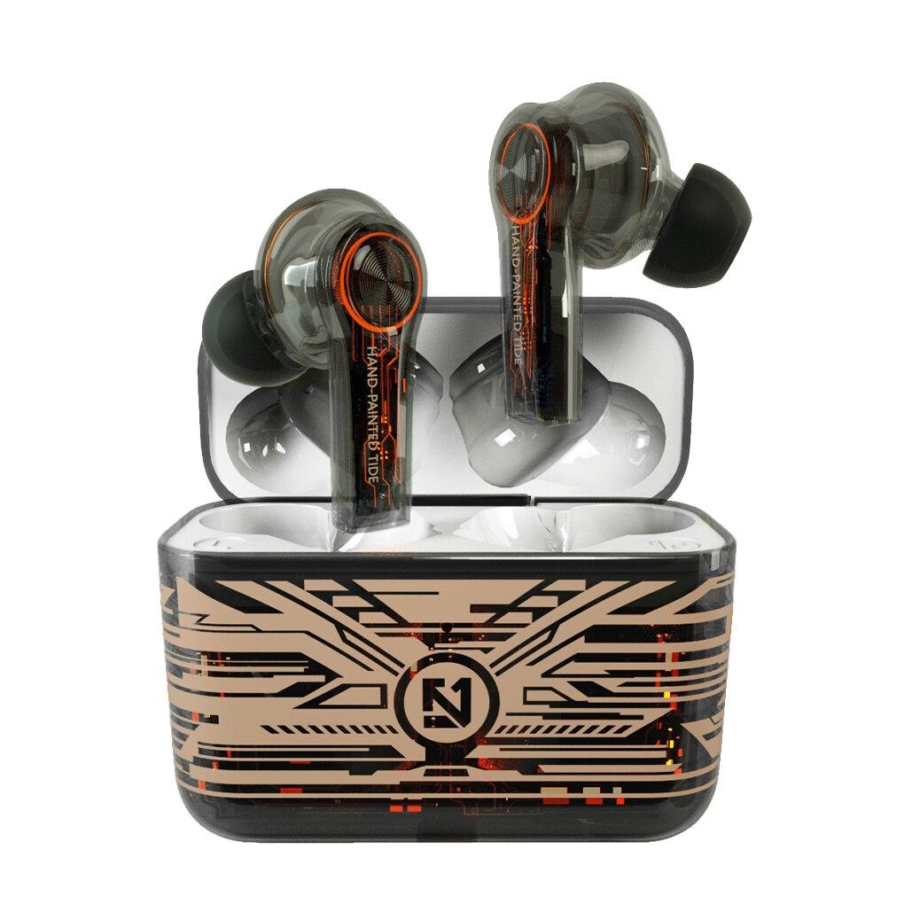 TS-200 TWS Wireless Bluetooth 5.0 Earphones Charging Box Touch Control Headphones Gaming Headset Spo