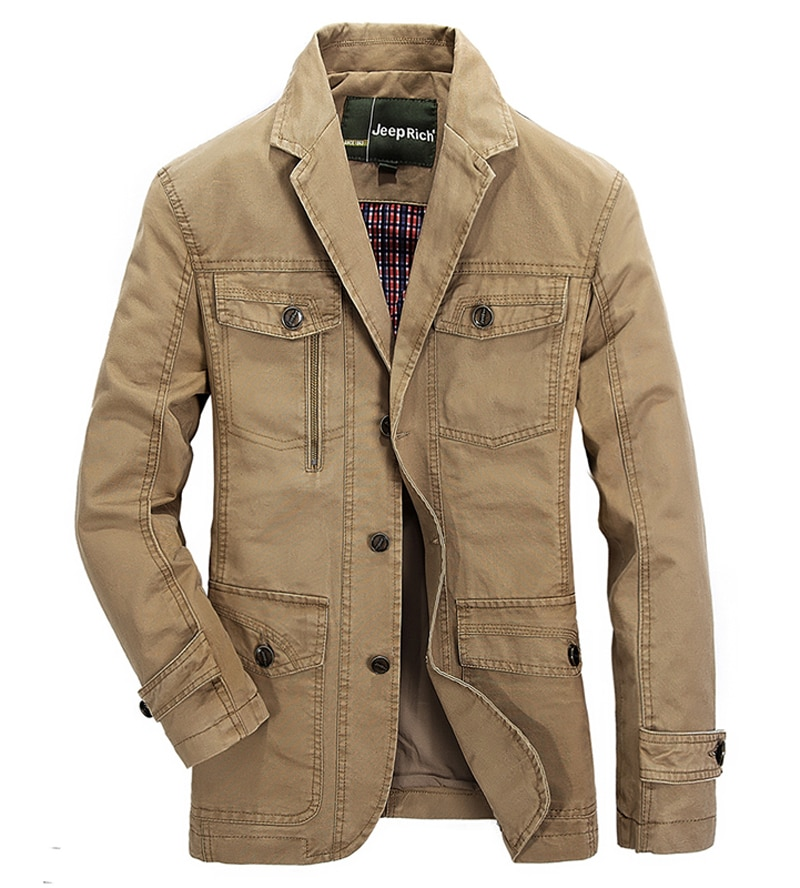 Nueva chaqueta vaquera informal para hombre... 100% de Cotton abrigo de negocios...