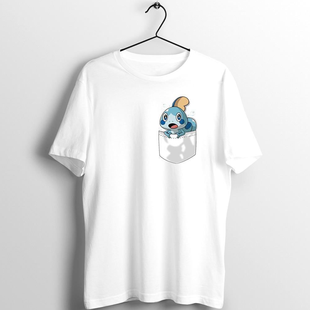 Camiseta masculina feminina pokemon espada e escudo iniciantes sobble scorbunny grookey impresso t