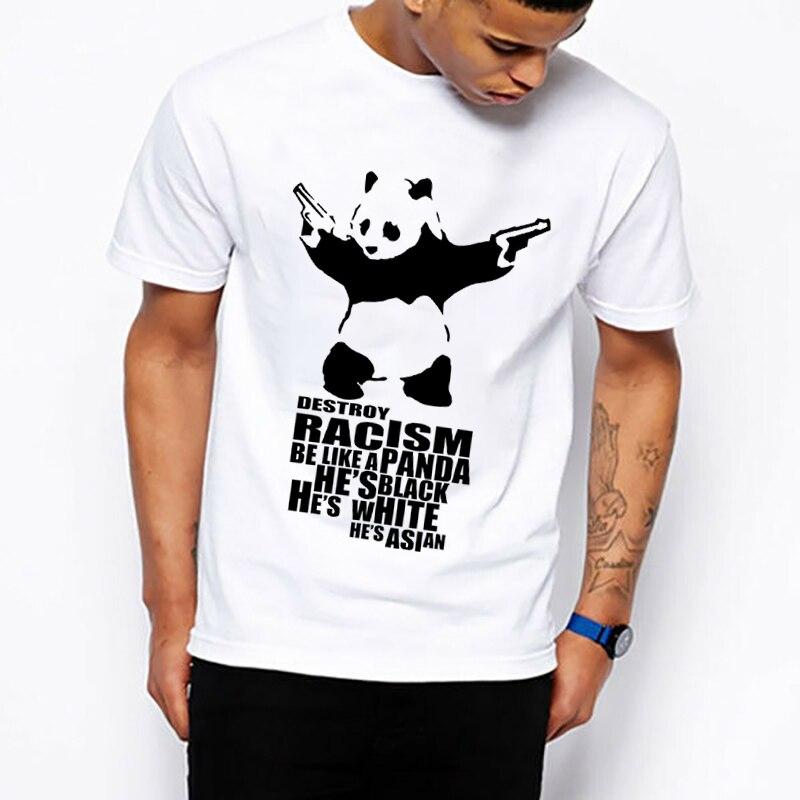 Camiseta con estampado de Panda antirrobo para hombre, camiseta para hombre y mujer, Camiseta con cuello redondo de talla grande, regalo para novio