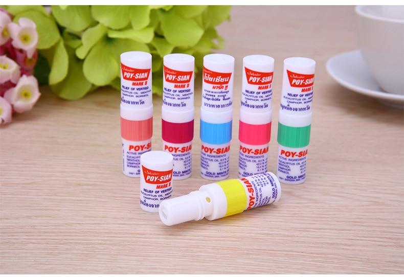 100% Новые тайские контейнеры для носовых ингаляторов Poy sian Mark 2, травяные контейнеры для носовых ингаляторов, Poy Sian Stick, мятный цилиндр, для очистки масла, от заброса, от астмы