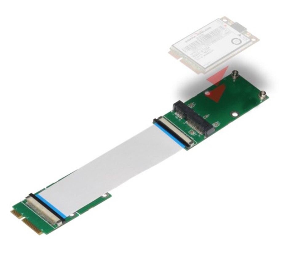 Mini PCIe a Mini PCIe Mini extensión PCI-E FPC 10/20/30CM tarjeta de red Extender extensión SSD extensor extensión adaptador