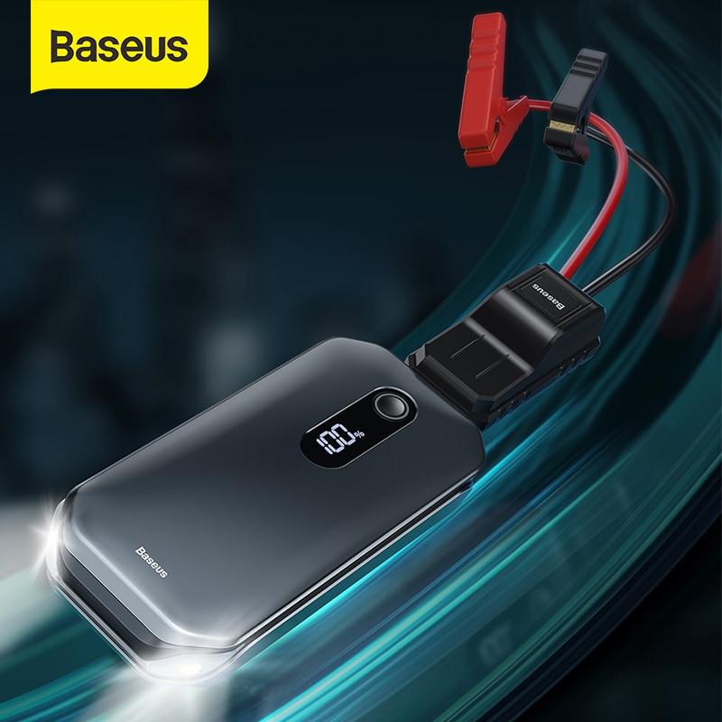 Baseus Car Jump Starter 12000mah 1000A Portable Emergency Starter Power Bank 12V Auto Booster Starti