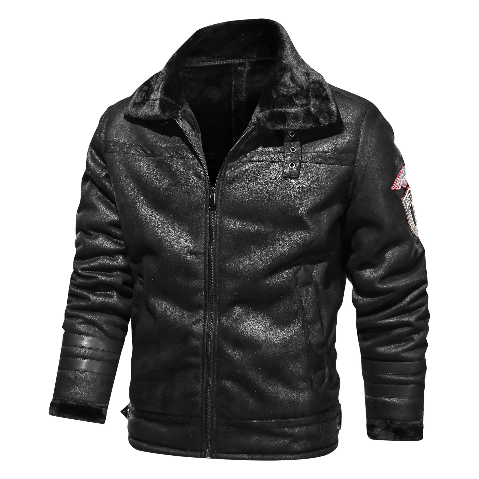 معطف فرو بني للرجال ، ملابس شتوية ، سميك ، كبير ، للترفيه ، دراجة نارية ، عتيق ، 2020
