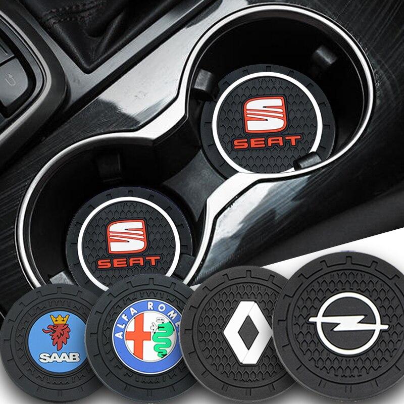 2pcs Carro Anti deslizamento da almofada Do Copo Coaster Crachá para Audi TT A1 A3 A4 B5 B6 B7 A5 A6 Q5 C5 C6 C7 A7 J8 B8 A8 D3 D4 Q3 42 A4L Aparelhos Carro