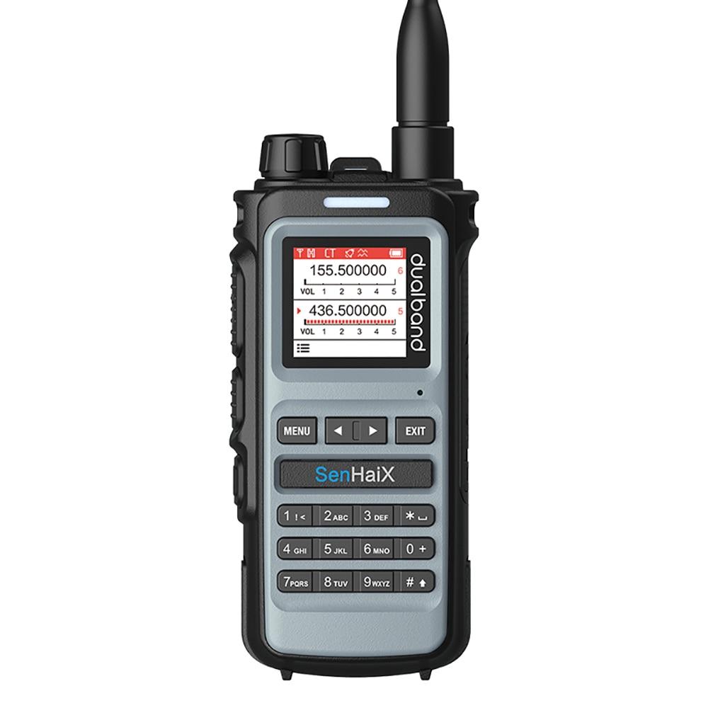 Sennسداسي 8600 جهاز اتصال لاسلكي احترافي مزدوج التردد محمول باليد والقيادة الذاتية محطة يد مدنية شحن USB