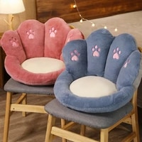 cute cat paw pillow animal seat cushion stuffed plush sofa indoor floor home chair decor cushion winter warm thick stool