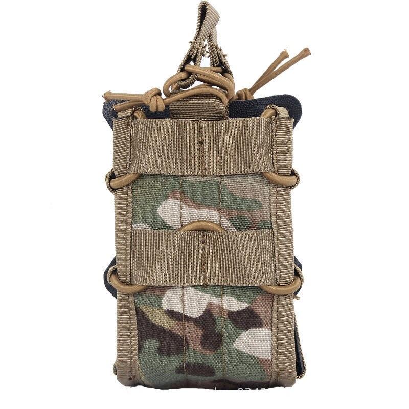 Bolsa táctica de doble revista Modular Molle 5,56 M4 M16 AR15 SR52 P-MAGS M1A1 G3 Mag bolsa abierta Airsoft bolsa de caza