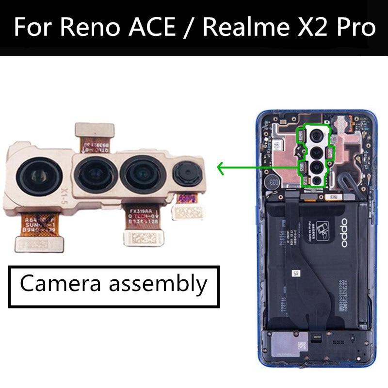 كاميرا أمامية وخلفية لـ Realme X2 PRO ، وحدة الكاميرا الرئيسية ، كابل مرن ، قطع غيار لـ OPPO Reno ACE