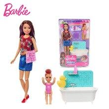 Poupée Barbie originale 27CM Barbie Skipper Babysitters Inc poupées et Playset FXH05 Barbie vêtements avec accessoires noël