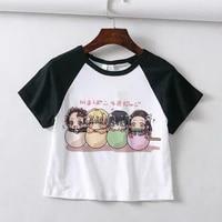 kimetsu no yaiba mugen train graphic t shirts women alternative 2021 dropshipping kawaii clothes demon slayer manga summer top