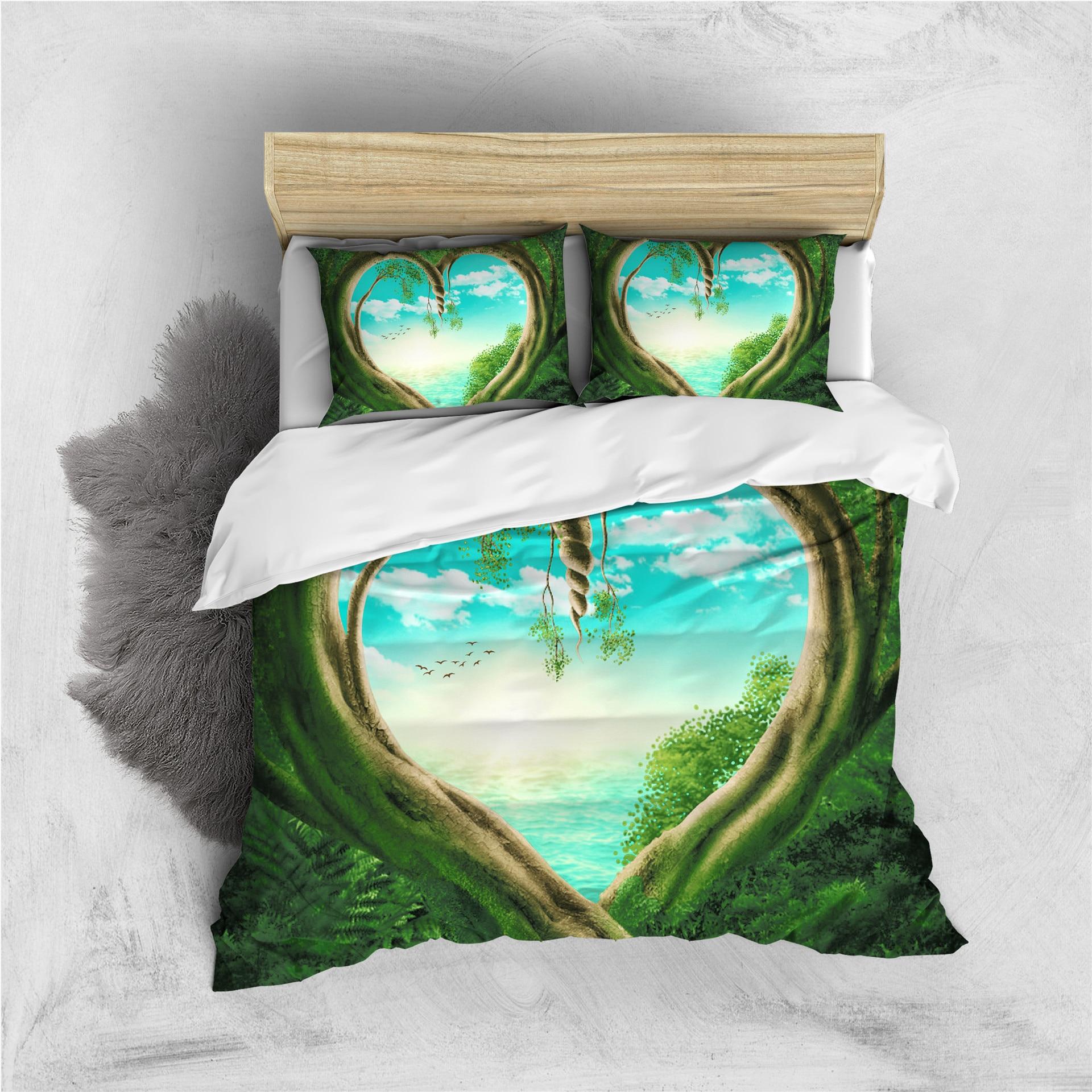 غطاء لحاف ثلاثي الأبعاد إبداعي مع غطاء وسادة ، طقم سرير فردي ، مزدوج ، كامل ، كوين ، كينج ، لديكور غرفة النوم