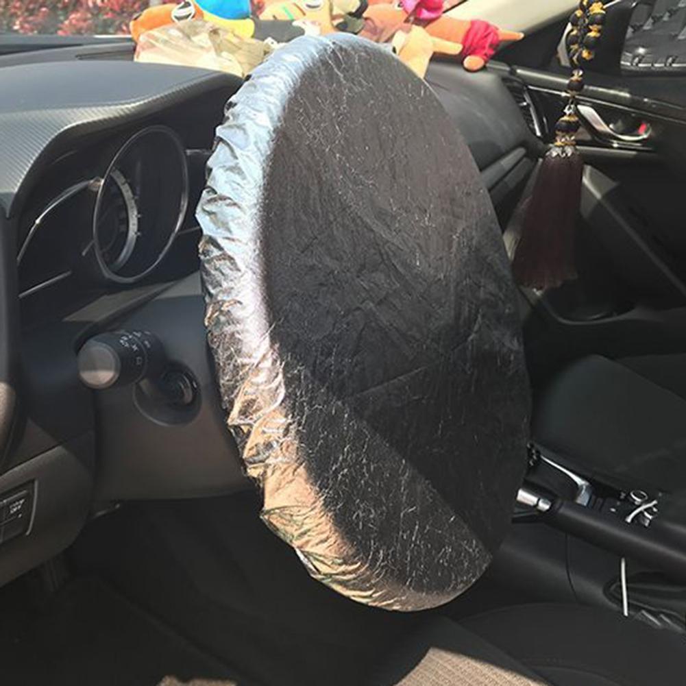 Protector solar para coche, cubierta trenzada para volante, cubierta solar para Kia Provo K9 Cross Carens CUB Trackster Ray K2 Naimo Pro Venga