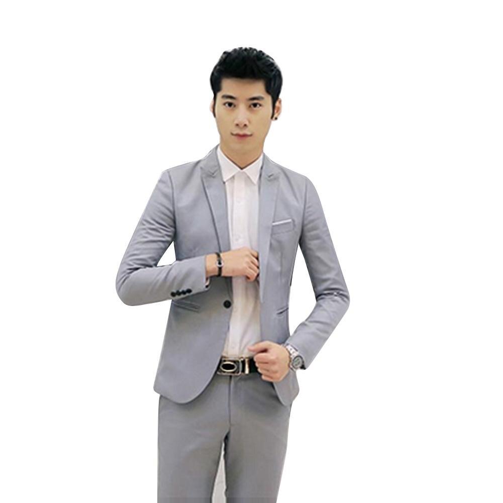 ropa de hombre 2019 formal Button Casual Suit Coat Solid Color Cotton Blazer Suit Jacket Wedding Business Jacket Size M to 3XL