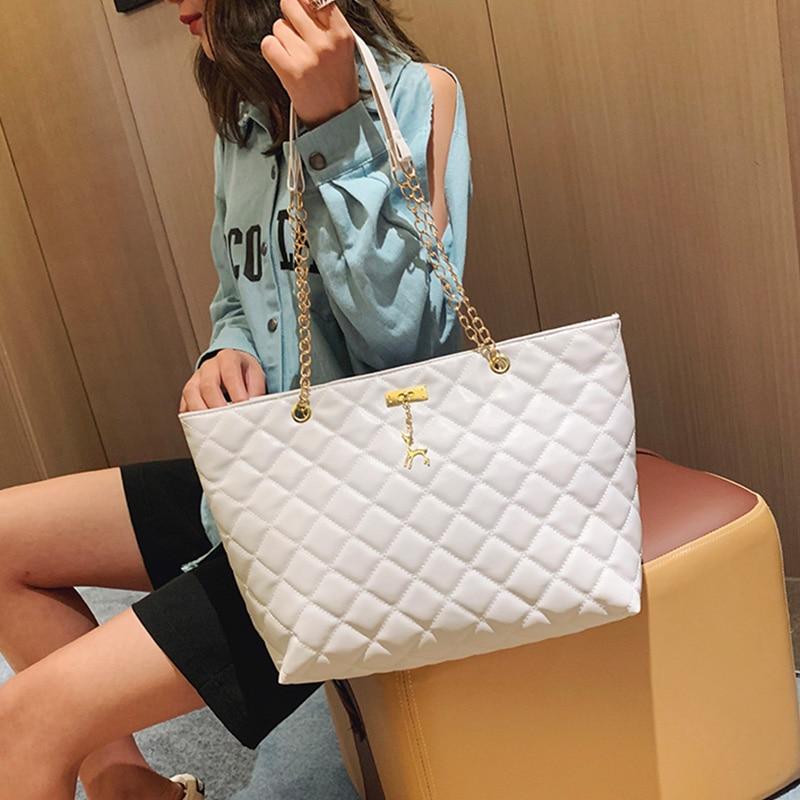 AMELIE GALANTI 2020 tendencia nueva bolsa de cadena Lingge PU adornos de cervatillo para damas, bolso grande portátil casual, bolso de hombro, bolso de señora estilo