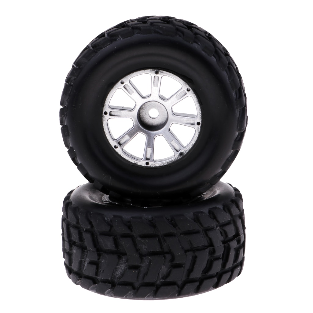 Pack of 2 RC Car Tires Wheel 1/18 Replacement for Wltoys A949 A959 A979