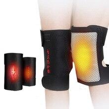 1 paire Tourmaline auto-chauffant genouillère thérapie magnétique genou soutien Tourmaline ceinture chauffante genou masseur genouillère soins des os