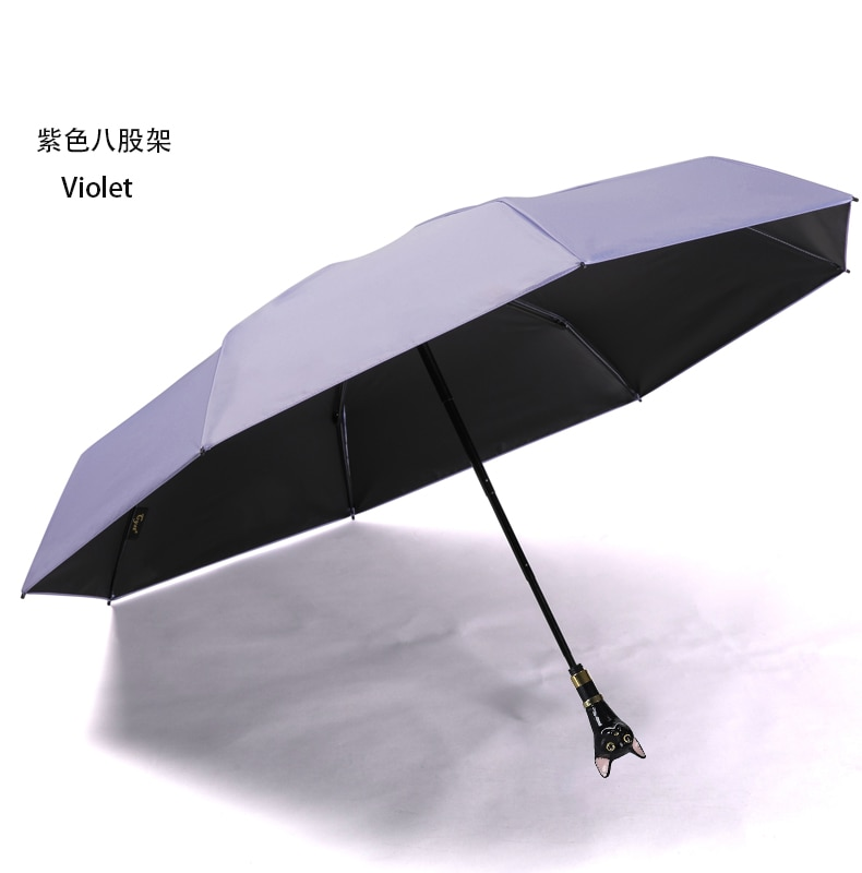 Rain Women Umbrella Strong Windproof Decoration Black Cat Handle Waterproof Sun Protection Umbrella Paraguas Home Garden AG50ZS enlarge