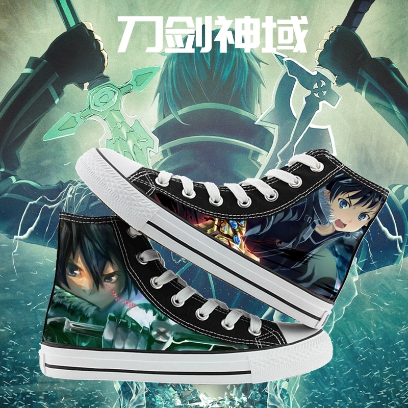 Anime cartoon students high help Sword Art Online cosplay cos shoes canvas shoes casual comfortable men and women college