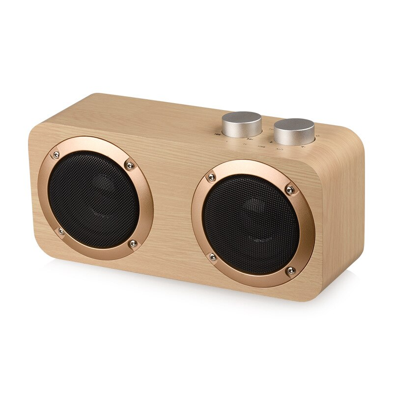 Q7 retro wooden wireless bluetooth bass speaker, new home mobile phone computer creative audio enlarge