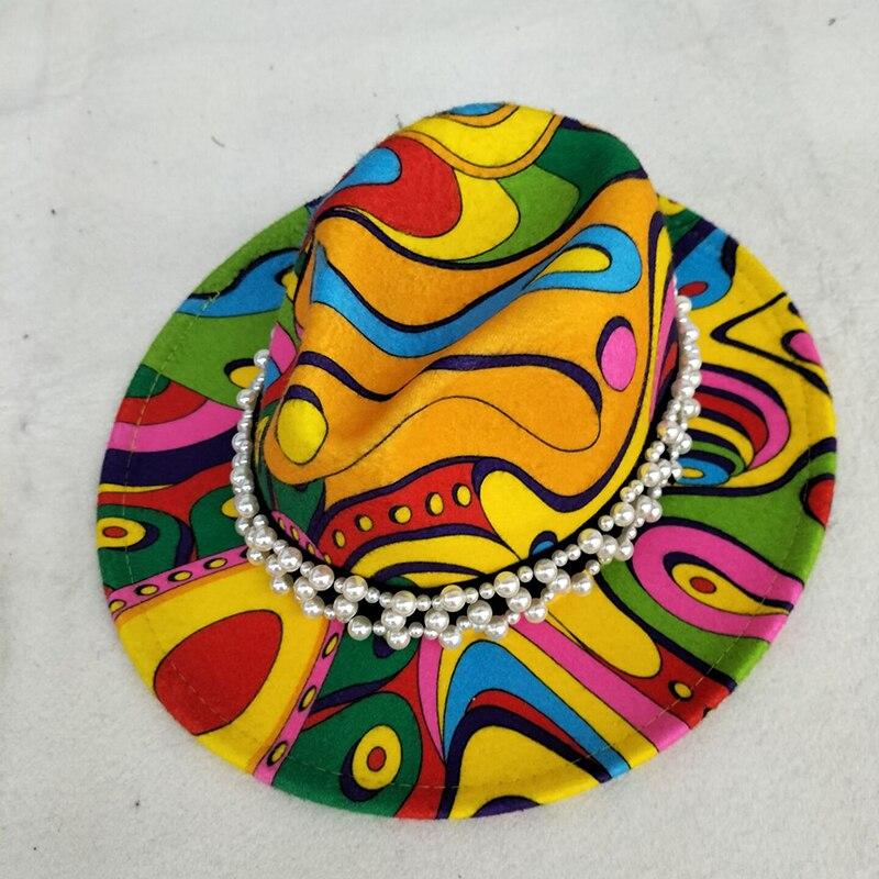 Шляпа Женская в винтажном стиле, Панама с широкими полями и градиентом, искусственная джазовая Панама, шапка Дерби, Зимняя