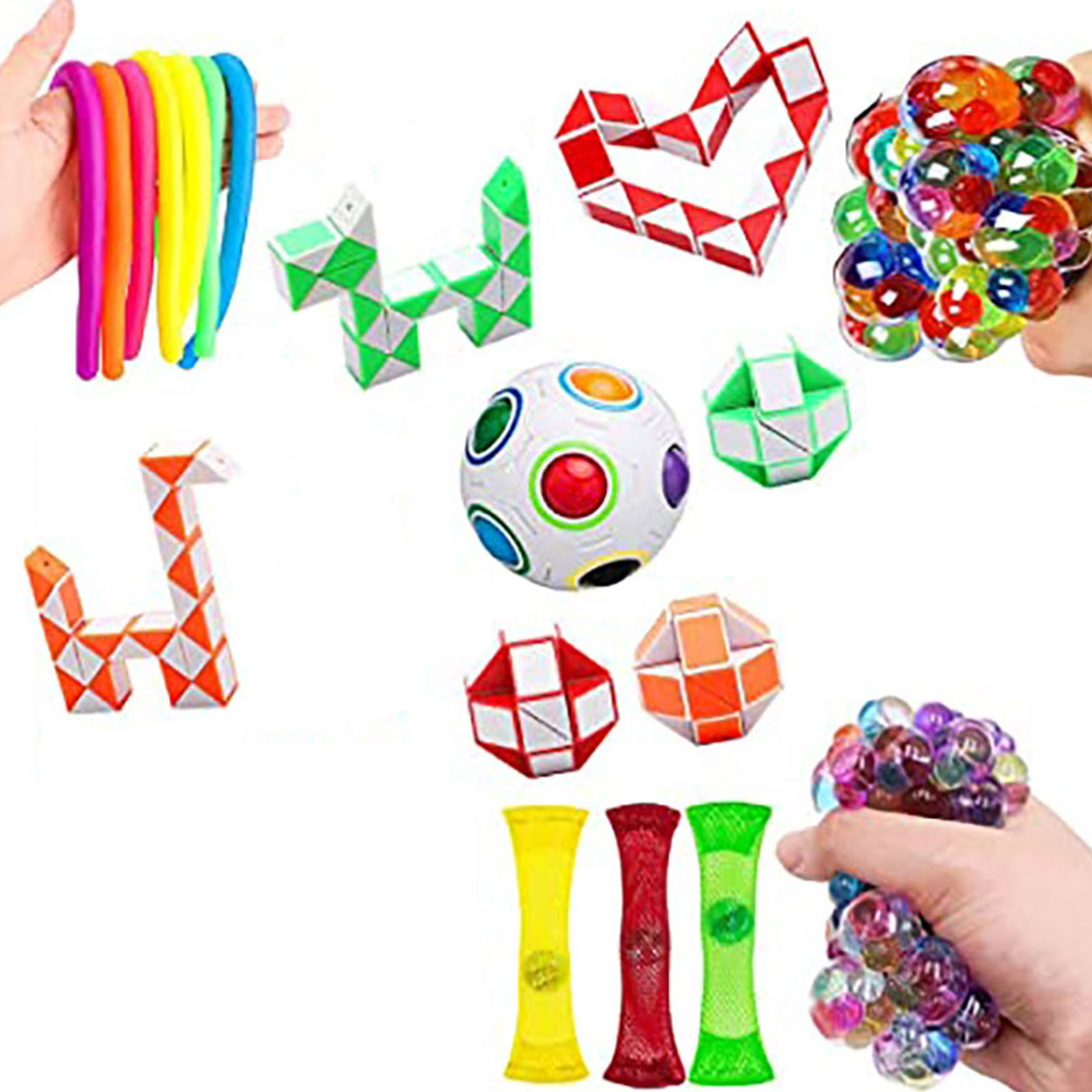 Fidget Toys Anti Stress Toy Set Stretchy Strings Mesh Marble Relief Gift For Adults Kids Sensory Stress Relief Decompression Toy enlarge